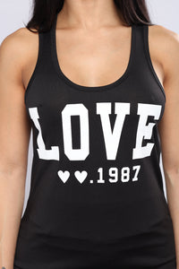 Love Song Active Top - Black
