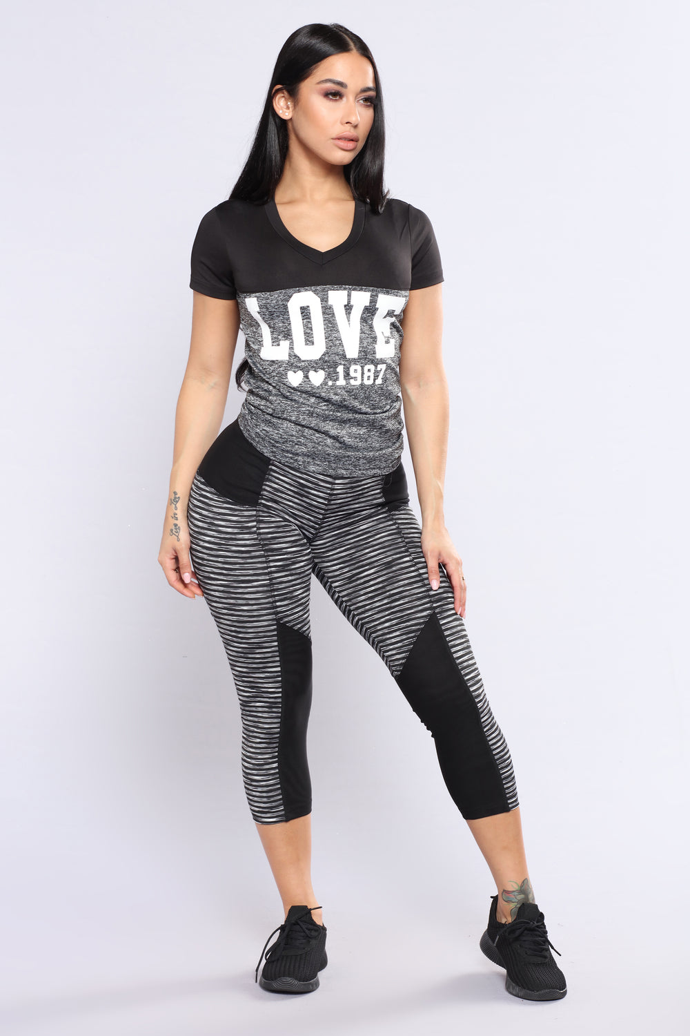 Love Story Active Top - Charcoal
