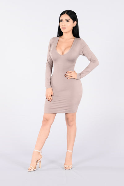Dress Me Up Or Down Dress - Dark Mocha