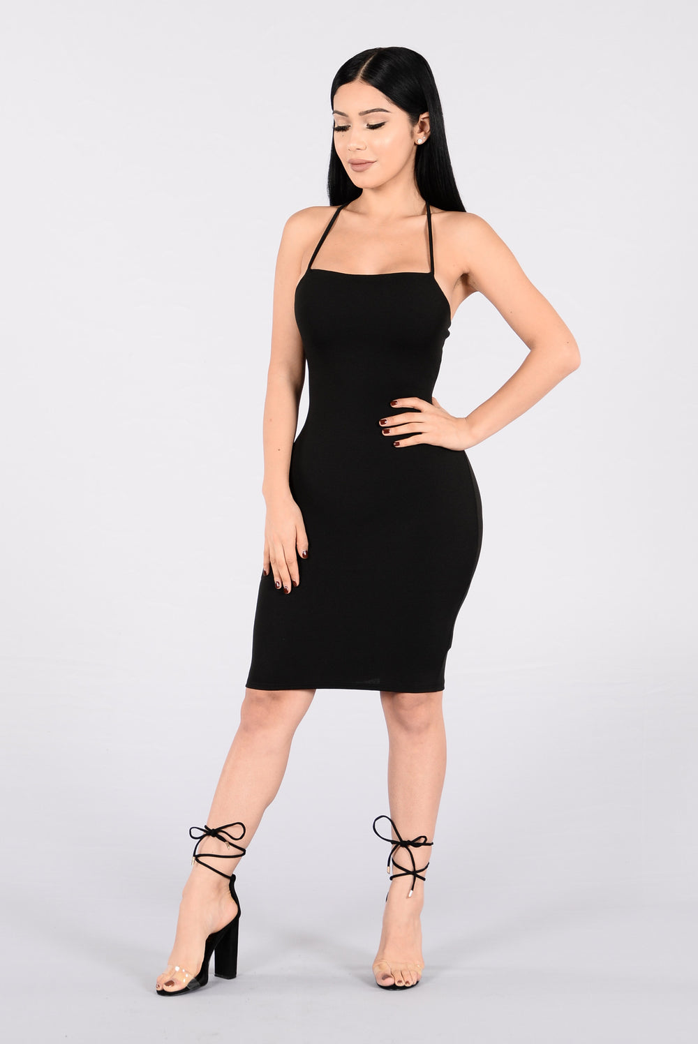 Face The Lace Dress - Black