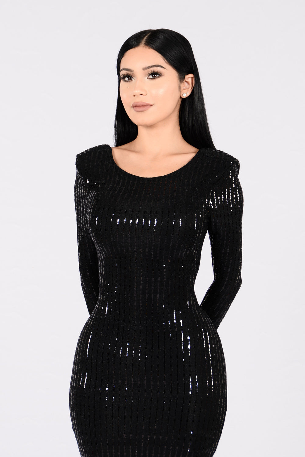 Get Your Shine On Dress - Black/Black
