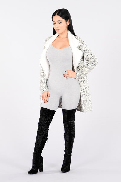 Fur Blur Jacket - Black/Charcoal