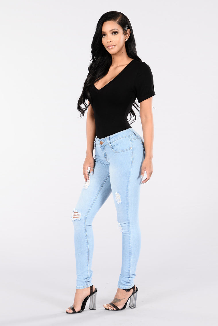 Coming Home To You Jeans - Light Blue
