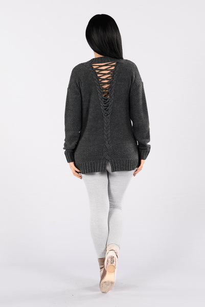 Rayna Sweater - Charcoal