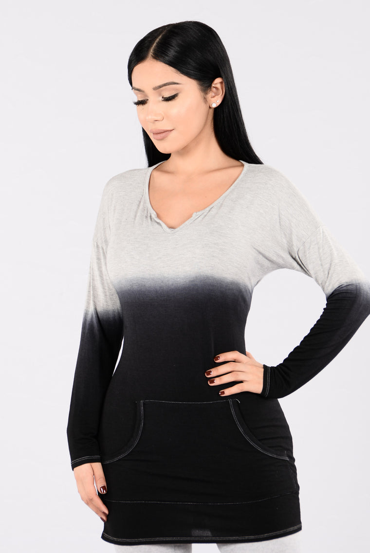 Keep It Cozy Top - Grey