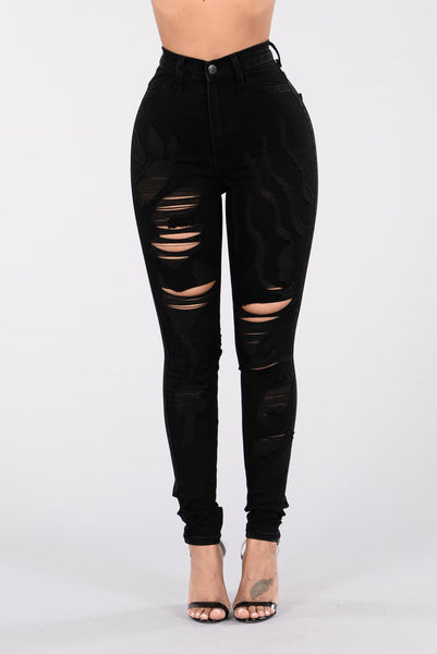Don't Be Catty Jeans - Black