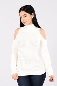 Warmer Days Sweater - Ivory Angle 1
