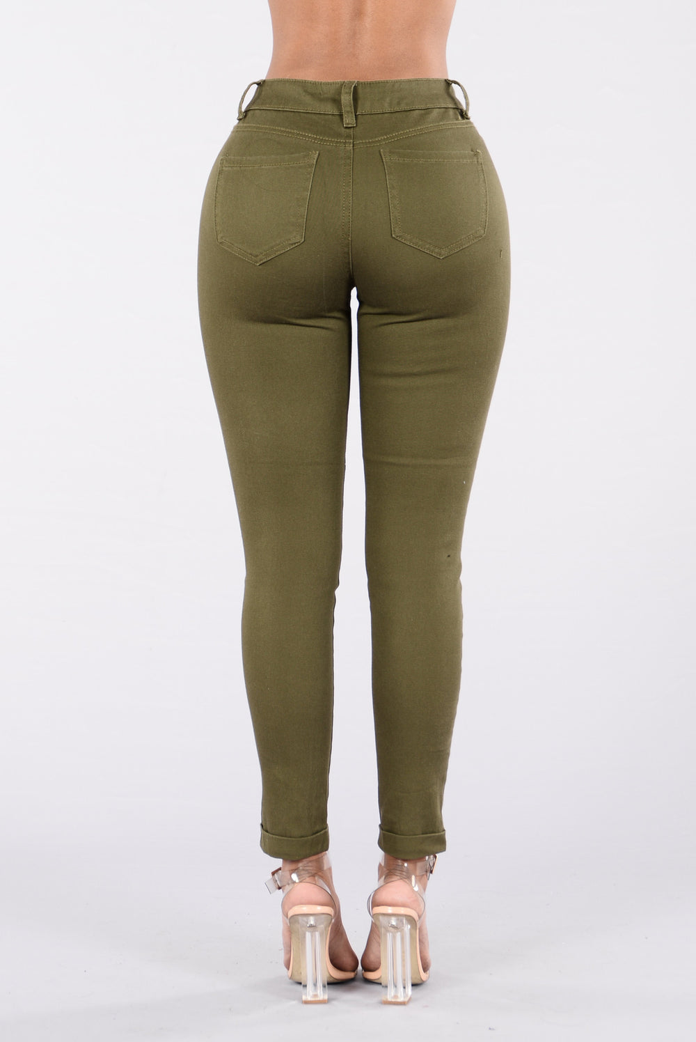 Answer My Call Jeans - Olive Wash