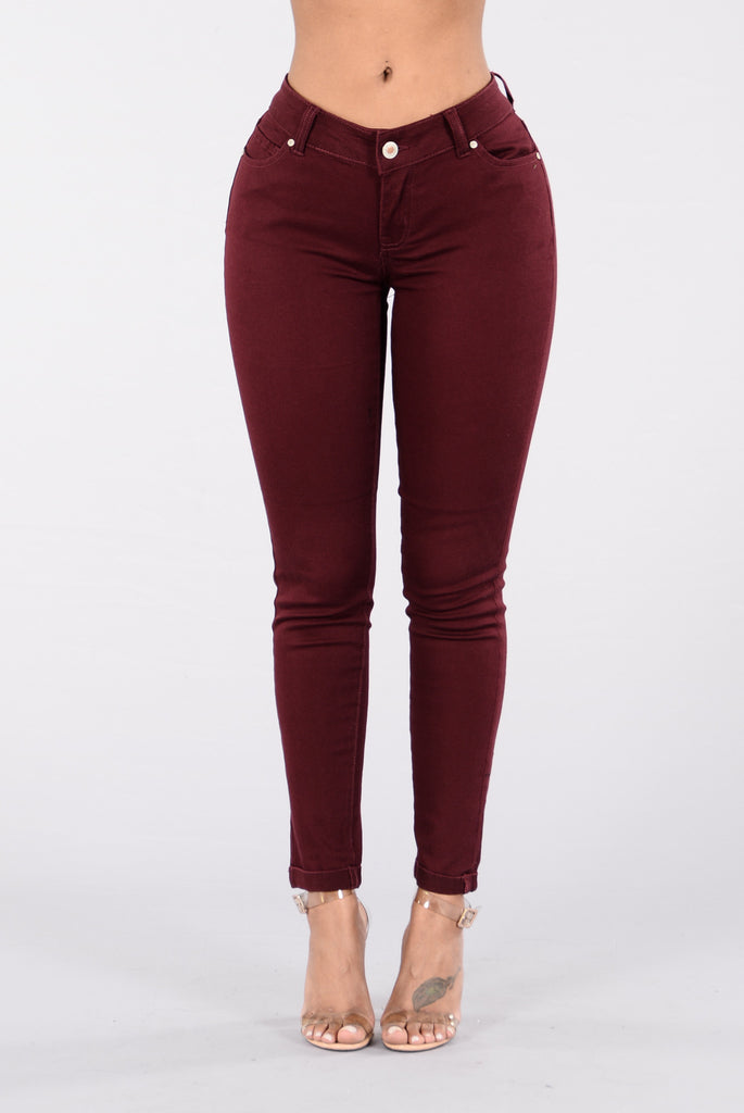Shop for burgundy pants at eternal-sv.tk Free Shipping. Free Returns. All the time.
