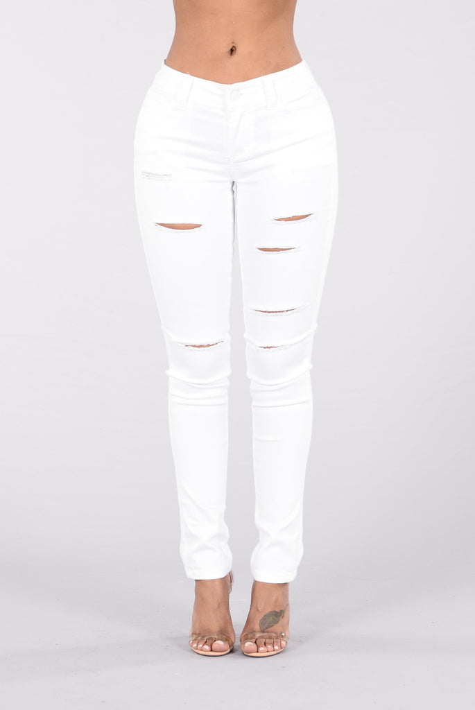Never Hide Jeans - White Wash