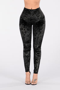 Can't You See Leggings - Black