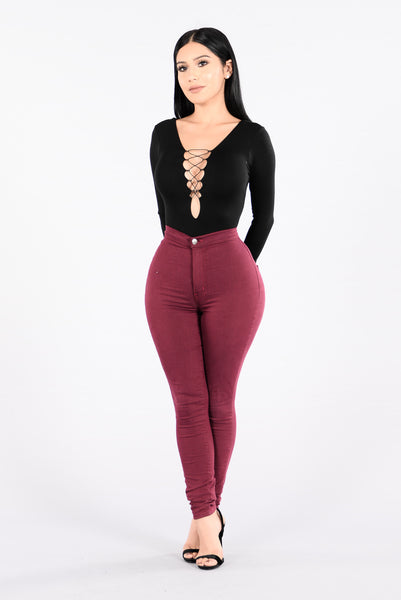 Coming In Close Bodysuit - Black