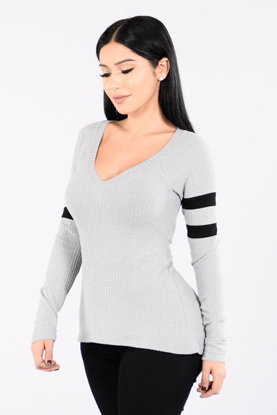 Too Easy Top - Grey