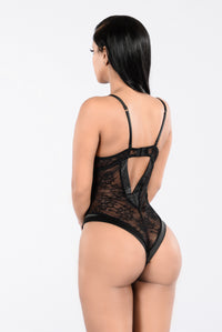 My Need Teddy Bodysuit - Black