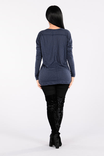 Stay With Me Top - Navy