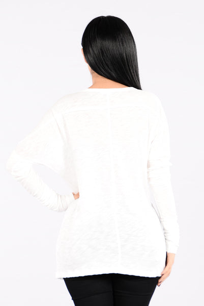 Stay With Me Top - White