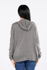 Kickback and Chill Sweater - Charcoal Angle 3