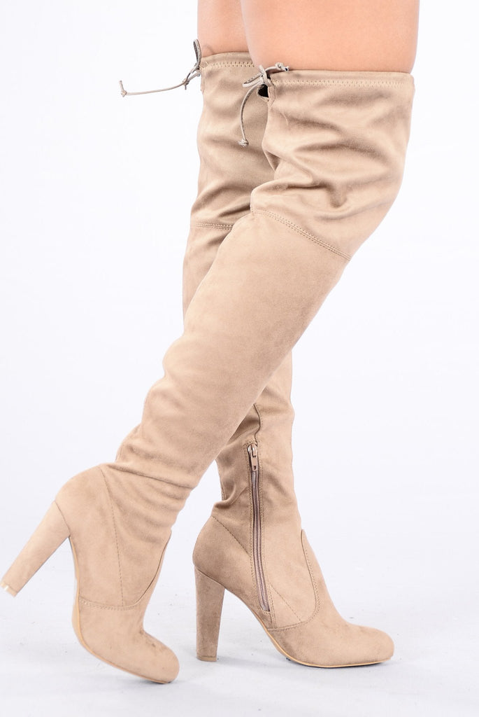 Go With The Flow Boot - Taupe