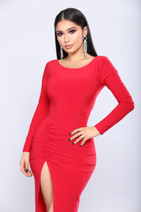 Mirable Asymmetrical Dress - Red