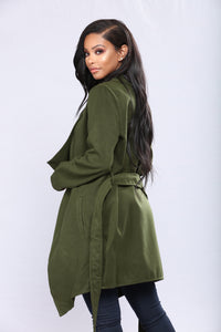 Manhattan City Coat - Green