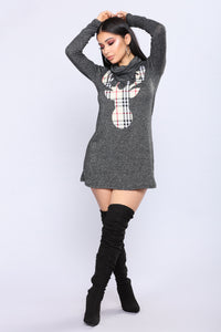 Reindeer Sweater - Black