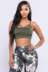 Keanna Active Sports Bra - Forest Night