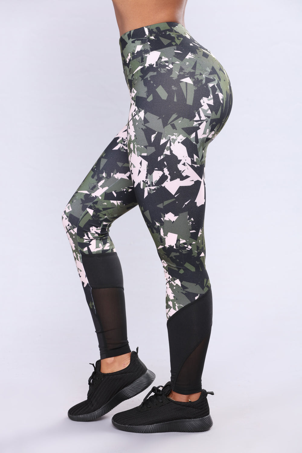 Keanna Active Leggings - Forest Night Camo