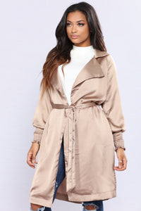 Upper West Side Satin Jacket - Nude Angle 2