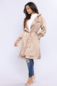 Upper West Side Satin Jacket - Nude Angle 1