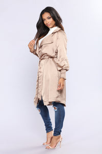Upper West Side Satin Jacket - Nude Angle 3