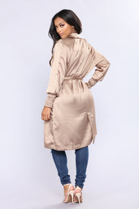 Upper West Side Satin Jacket - Nude Angle 4