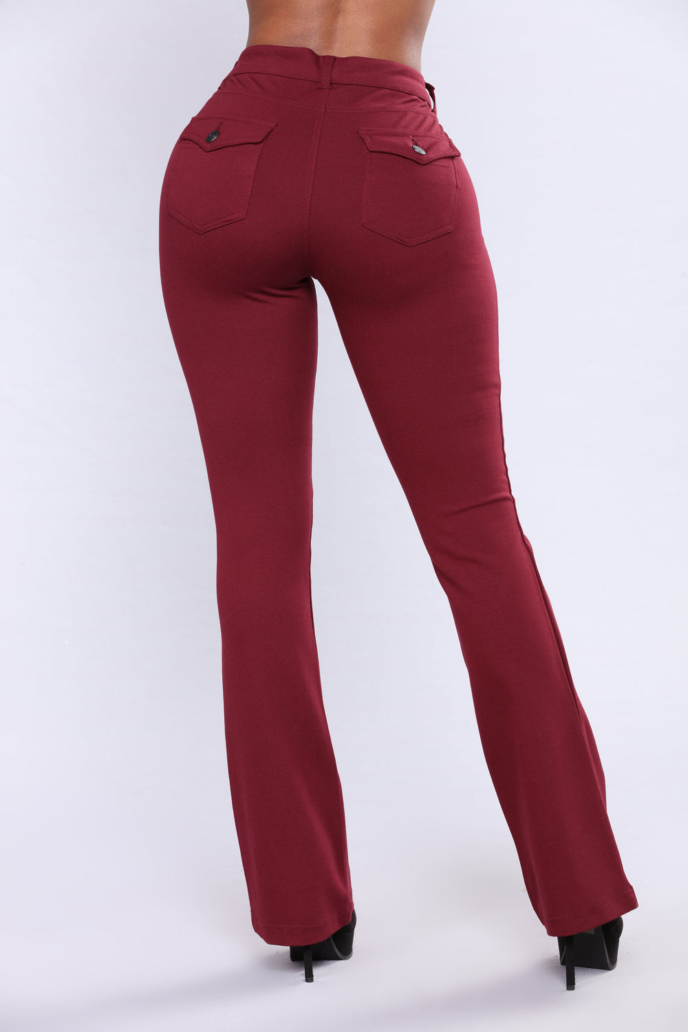 Bertha Ponte Pants - Wine