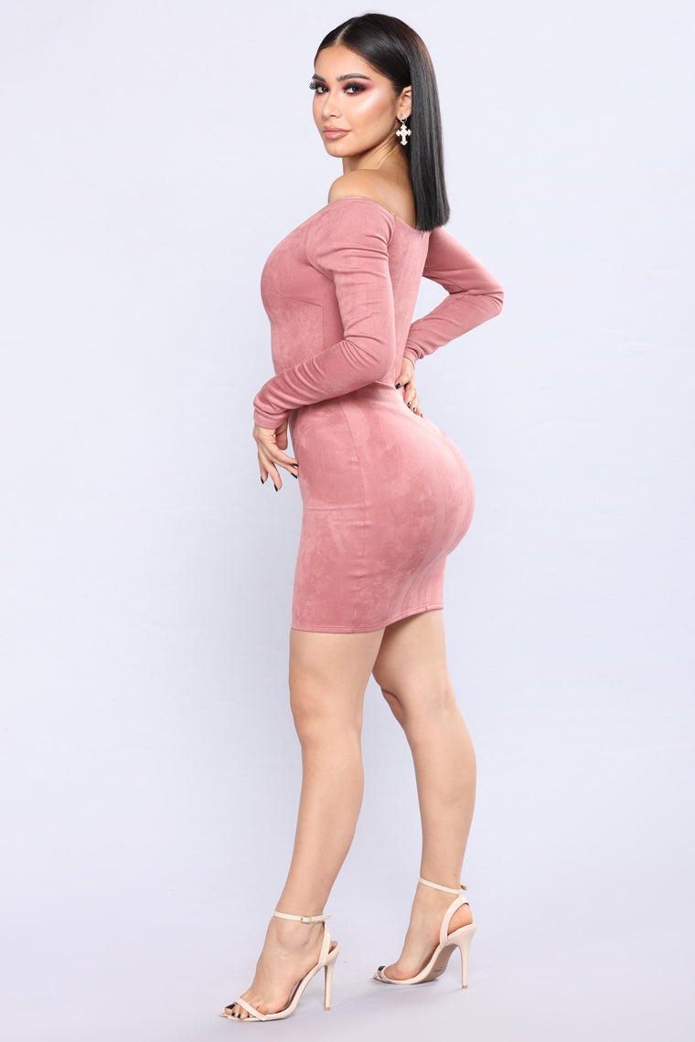 Fawn Over You Dress - Mauve
