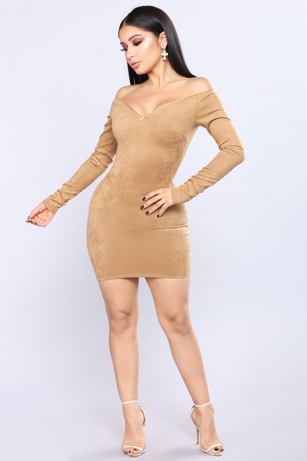 Fawn Over You Dress - Camel