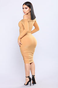 Madyson Ruched Dress - Mustard