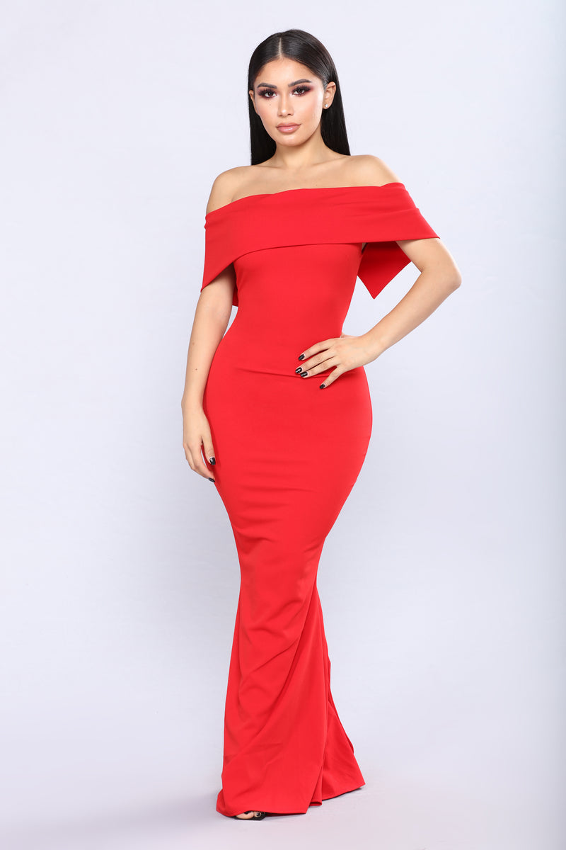 Penthouse Floor Dress - Red