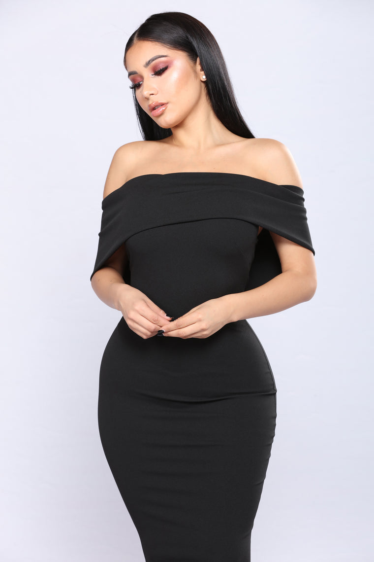 Penthouse Floor Dress - Black