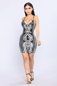 Launch To Stardom Sequin Dress - Silver