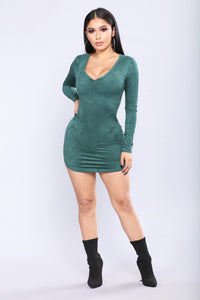 Tiff Suede Tunic - Hunter Green