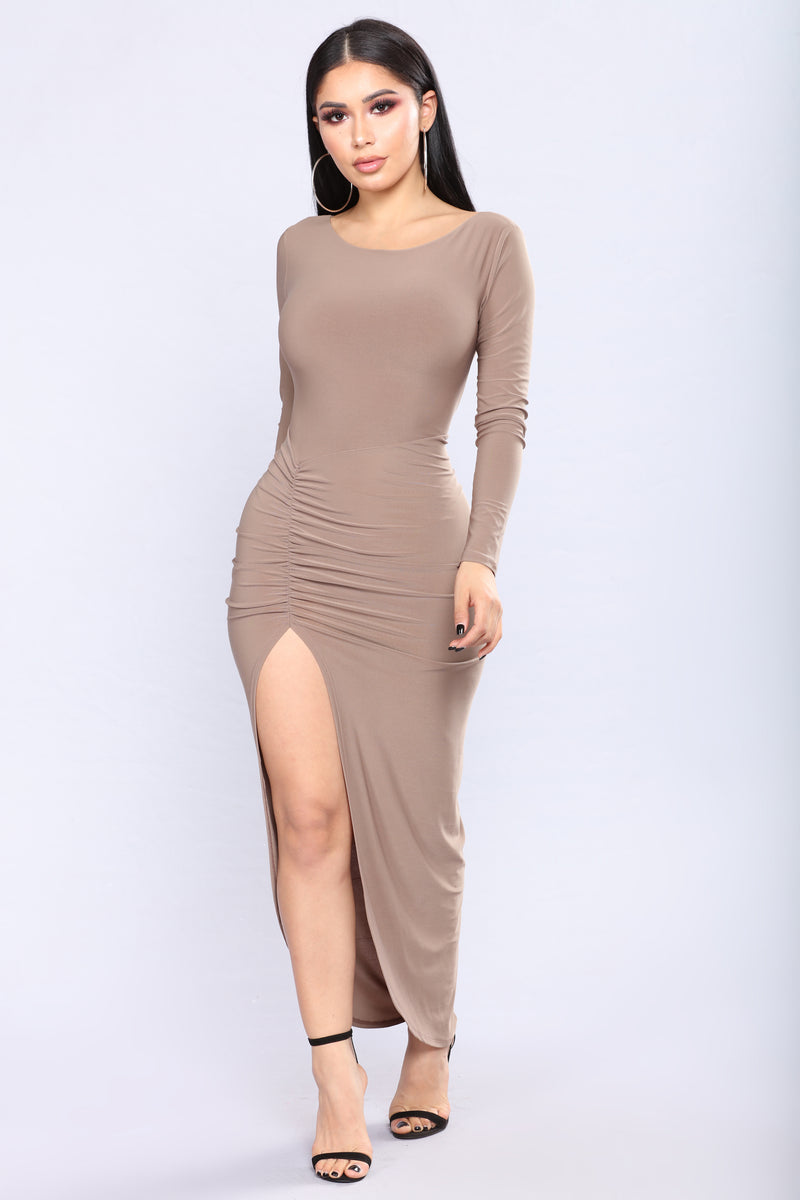 Mirable Asymmetrical Dress - Mocha