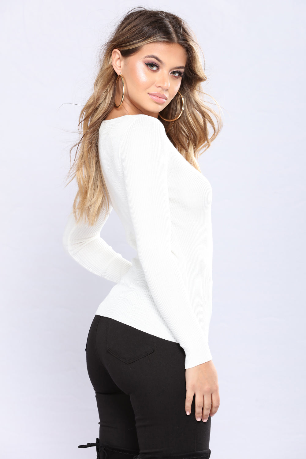The Perfect Sweater Top - Ivory