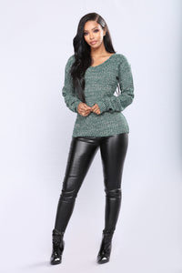 Orly Knit Sweater - Green Angle 2