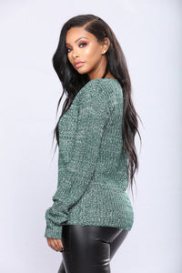 Orly Knit Sweater - Green Angle 3