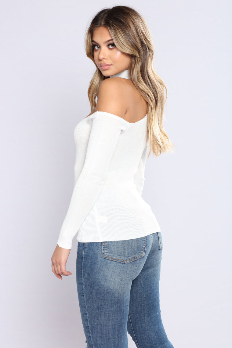 Ready For Whatever Off The Shoulder Top - Ivory