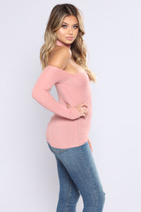 Ready For Whatever Off The Shoulder Top - Mauve