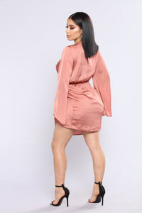 Sugar Land Satin Dress - Mauve