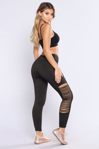 Daina Active Leggings - Black Angle 5