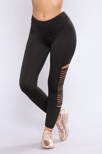 Daina Active Leggings - Black Angle 2