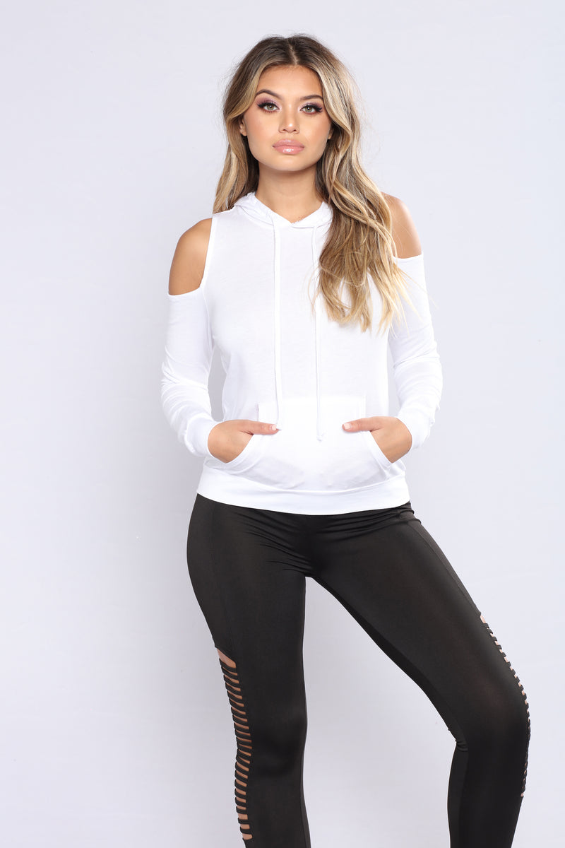 Flashback Hooded Sweater - White