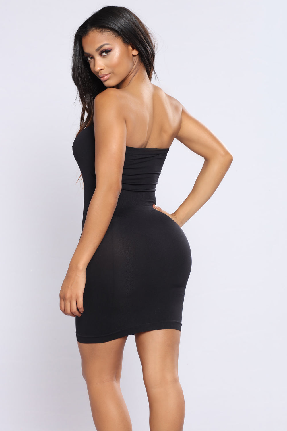 I'll Be Waiting Shapewear Dress - Black